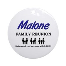 Malone Family Reunion Ornament (Round)