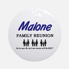 Malone Family Reunion Ornament (Round)