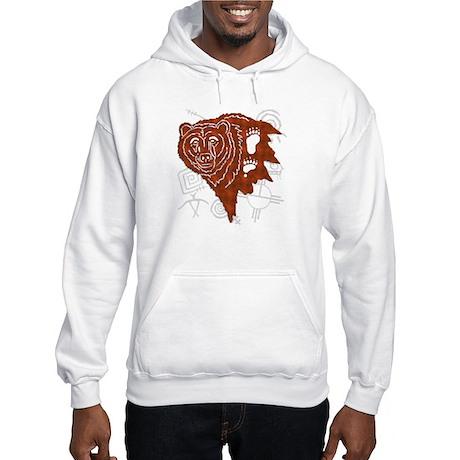 Tribal Bear Hooded Sweatshirt