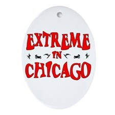 Extreme Chicago Oval Ornament