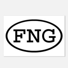 FNG Oval Postcards (Package of 8)