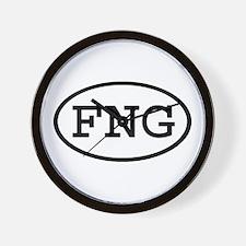 FNG Oval Wall Clock