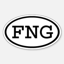 FNG Oval Oval Decal
