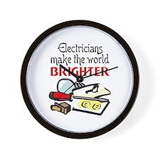 MAKE WORLD BRIGHTER Wall Clock