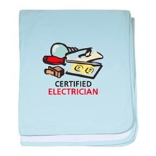 CERTIFIED ELECTRICIAN baby blanket