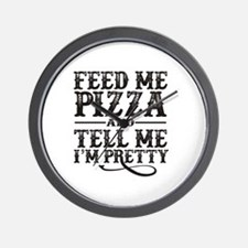 Feed Me Pretty Wall Clock