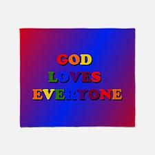 God Loves Everyone Throw Blanket
