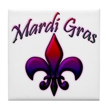 Cute New orleans bourbon st Tile Coaster