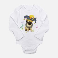 Cute Pug fun Long Sleeve Infant Bodysuit