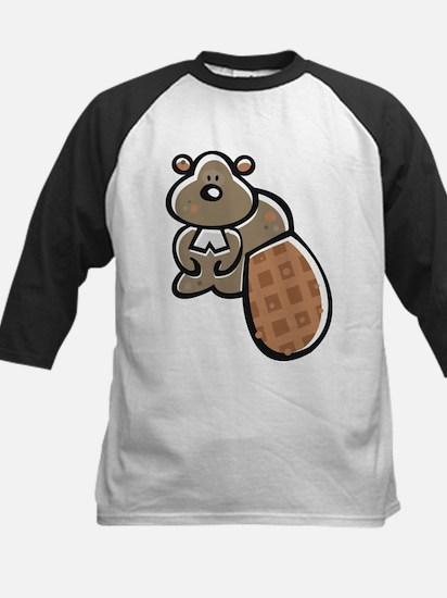 Cute Beaver Kids Baseball Jersey