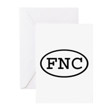 FNC Oval Greeting Cards (Pk of 10)