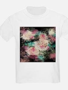 cute vintage black floral T-Shirt