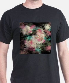 cute vintage black floral T-Shirt