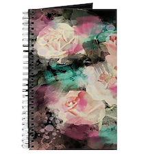 cute vintage black floral Journal