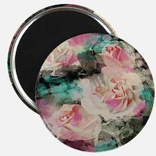 cute vintage black floral Magnets