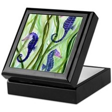 Cute Seahorse Keepsake Box