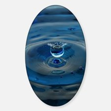 Blue Water Drop Decal