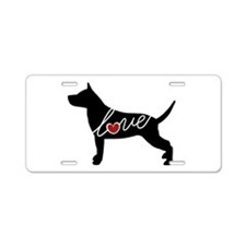 Staffordshire Terrier Aluminum License Plate