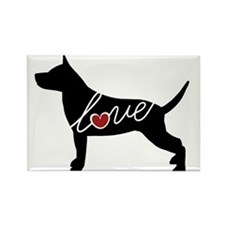 Staffordshire Terrier Rectangle Magnet