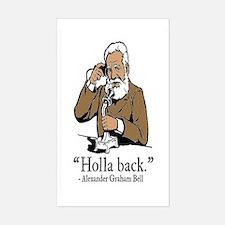 Holla Back Sticker (Rectangle)