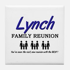 Lynch Family Reunion Tile Coaster