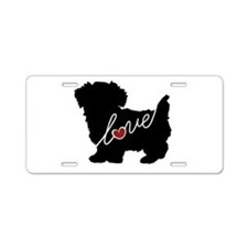 Morkie Aluminum License Plate