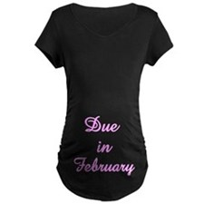 Twisted Imp Maternity Due In Feb T-Shirt