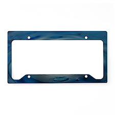 Blue Water Drop License Plate Holder