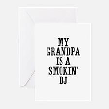 my grandpa is a smokin' DJ Greeting Cards (Package