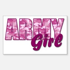 Army Girl Sticker (Rectangle)
