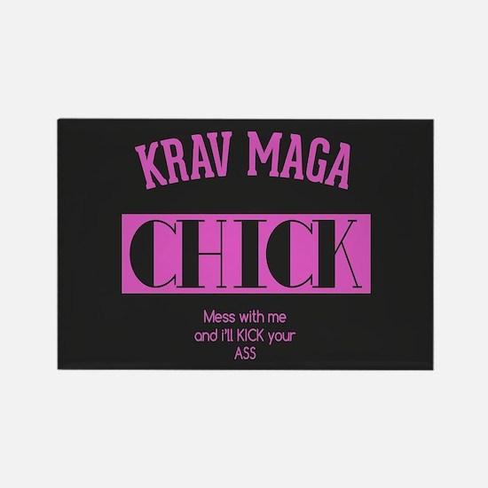 Krav Maga Chick - PINK Magnets