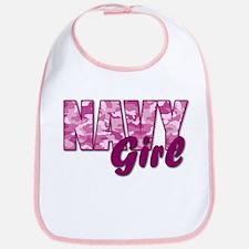 Navy Girl Bib