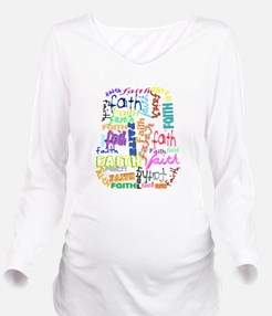 expressions of faith Long Sleeve Maternity T-Shirt