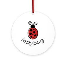 Ladybug Round Ornament