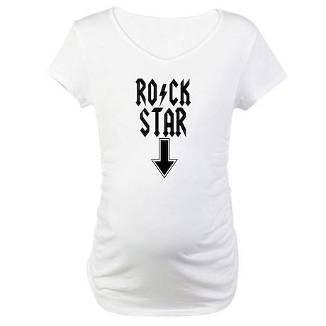 Rock Star Thunderbolt Maternity T-Shirt