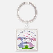 Honey Bunny- Square Keychain