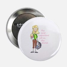 """MOST IMPORTANT JOB 2.25"""" Button (100 pack)"""