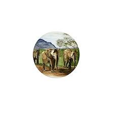 African Elephants of Kenya Mini Button
