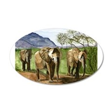 African Elephants of Kenya Wall Sticker