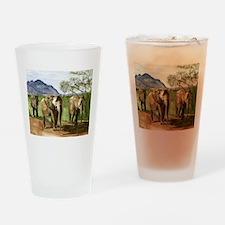 African Elephants of Kenya Drinking Glass