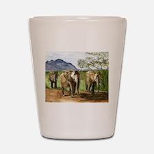 African Elephants of Kenya Shot Glass