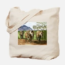 African Elephants of Kenya Tote Bag
