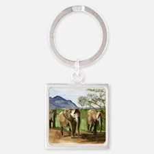African Elephants of Kenya Keychains