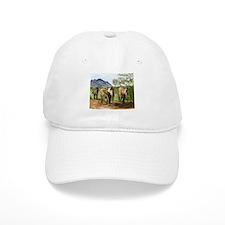 African Elephants of Kenya Baseball Cap