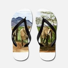 African Elephants of Kenya Flip Flops