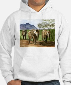 African Elephants of Kenya Jumper Hoody