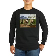 African Elephants of Kenya Long Sleeve T-Shirt