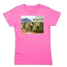 African Elephants of Kenya Girl's Tee