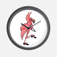 Flamingo Dancer Wall Clock