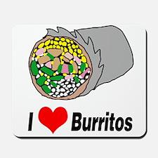 I heart burritos Mousepad